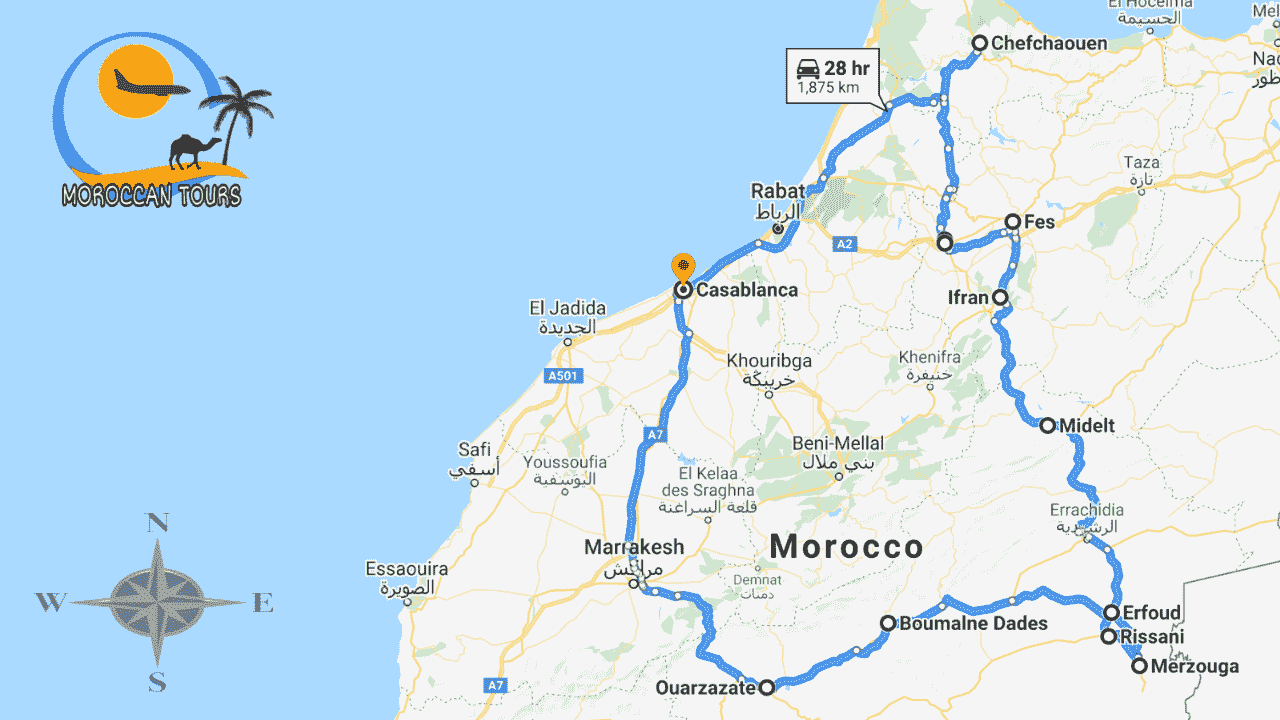 Tour Casablanca 8 10 Days / Dias / Giorni /
