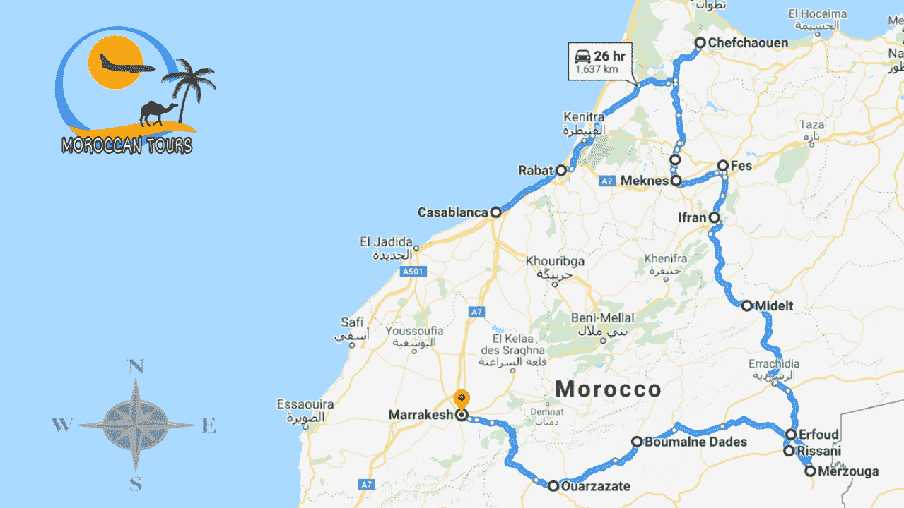 Tour Casablanca 7 Days / Dias / Giorni /