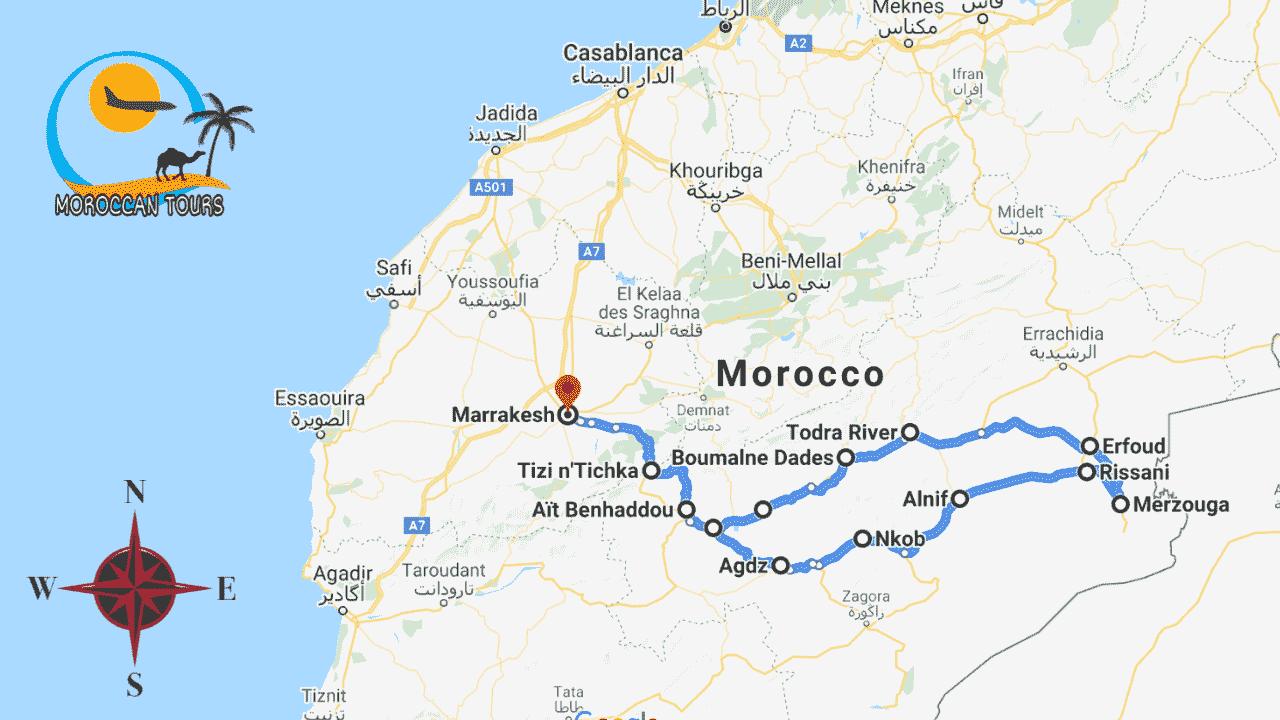 Morocco / Marruecos / Marrocos / Marocco, Tour / ruta / viagem / viaggio, itinerary / itinerario : Marrakech 3 4 5 Days / Dias / giorni