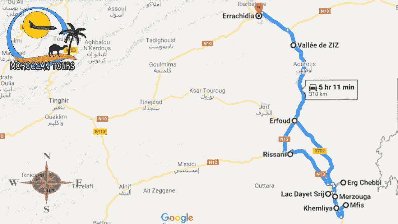 Morocco / Marruecos / Marrocos / Marocco, Tour / ruta / viagem / viaggio, itinerary / itinerario : Errachidia 3 Days / Dias / Giorni