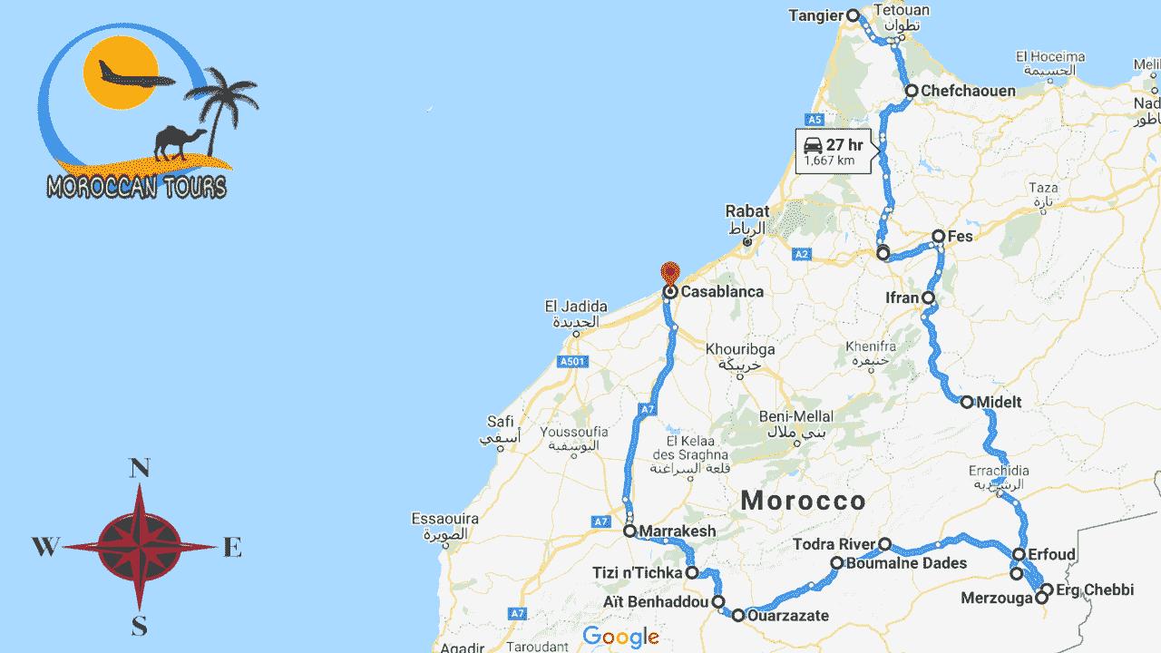 Morocco / Marruecos / Marrocos / Marocco, Tour / ruta / viagem / viaggio, itinerary / itinerario : Tangier 10 Days / Dias / Giorni