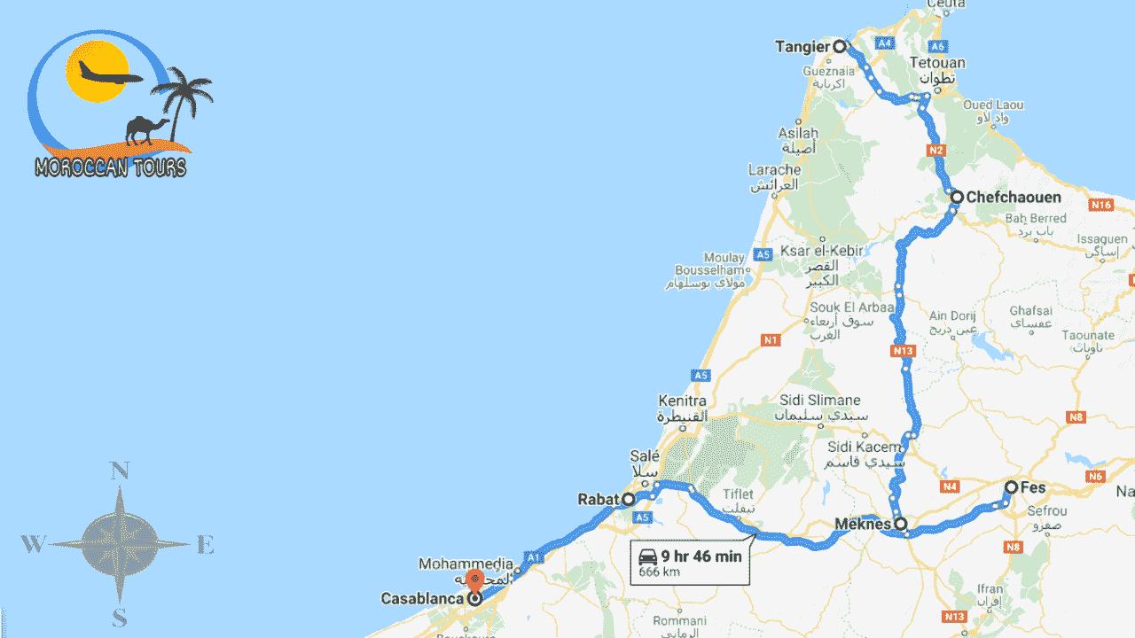 Morocco / Marruecos / Marrocos / Marocco, Tour / ruta / viagem / viaggio, itinerary / itinerario : Tangier 5 Days / Dias / Giorni