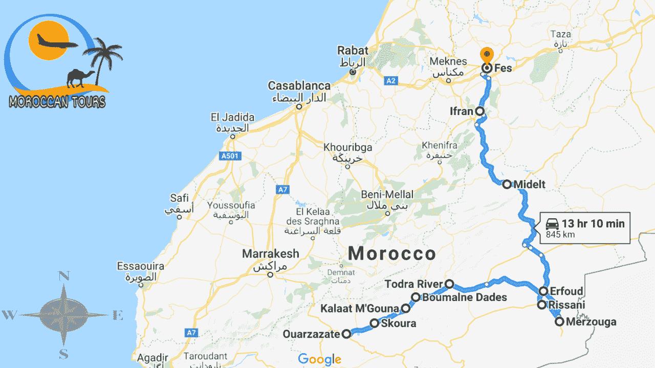 Morocco / Marruecos / Marrocos / Marocco, Tour / ruta / viagem / viaggio, itinerary / itinerario : Tour Ouarzazate Fes 2 3 Days / Dias / Giorni