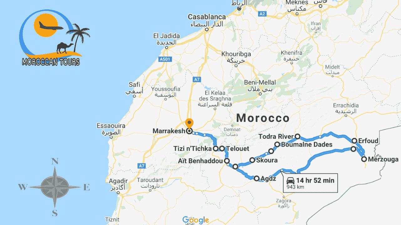 Morocco / Marruecos / Marrocos / Marocco, Tour / ruta / viagem / viaggio, itinerary / itinerario : Tour Ouarzazate 3 Marrakech Days / Dias / Giorni